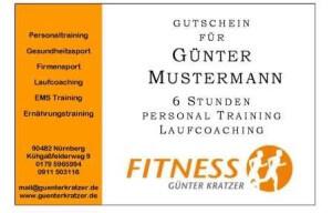 Lauf Gutschein Laufcoaching Mustermann